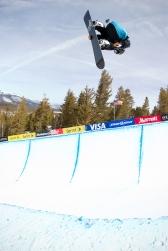 Louie Vito at US Snowboarding Grand Prix t Mammoth